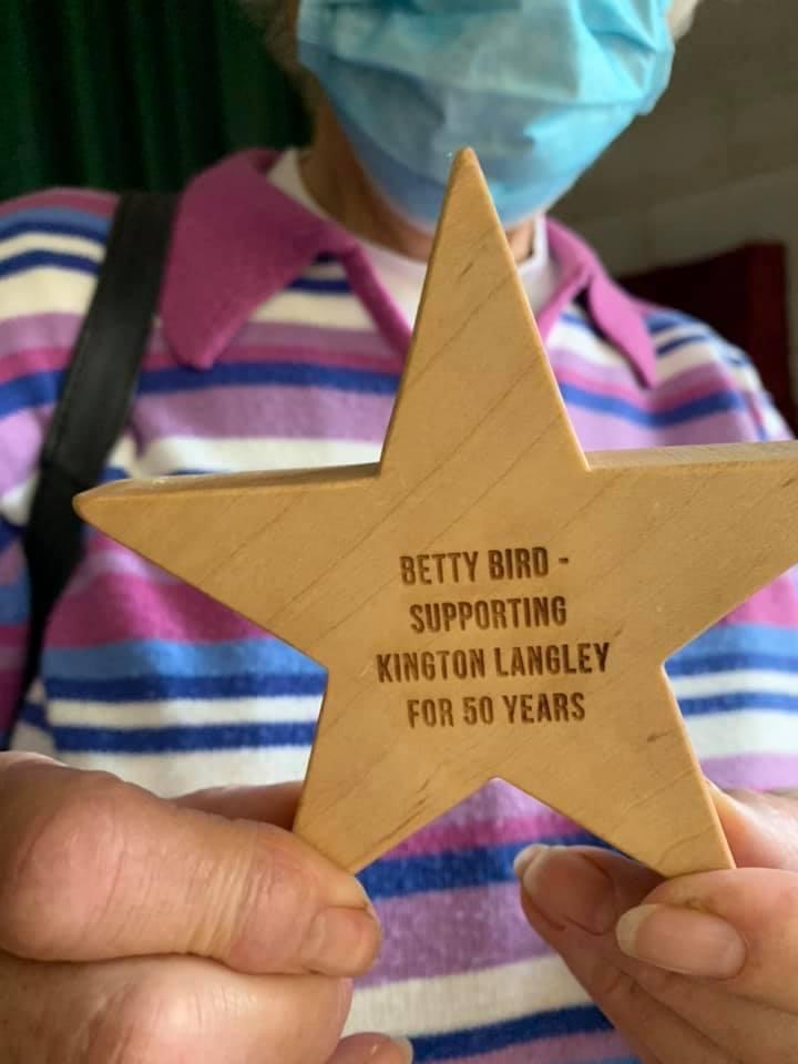 Presentation to Betty Bird